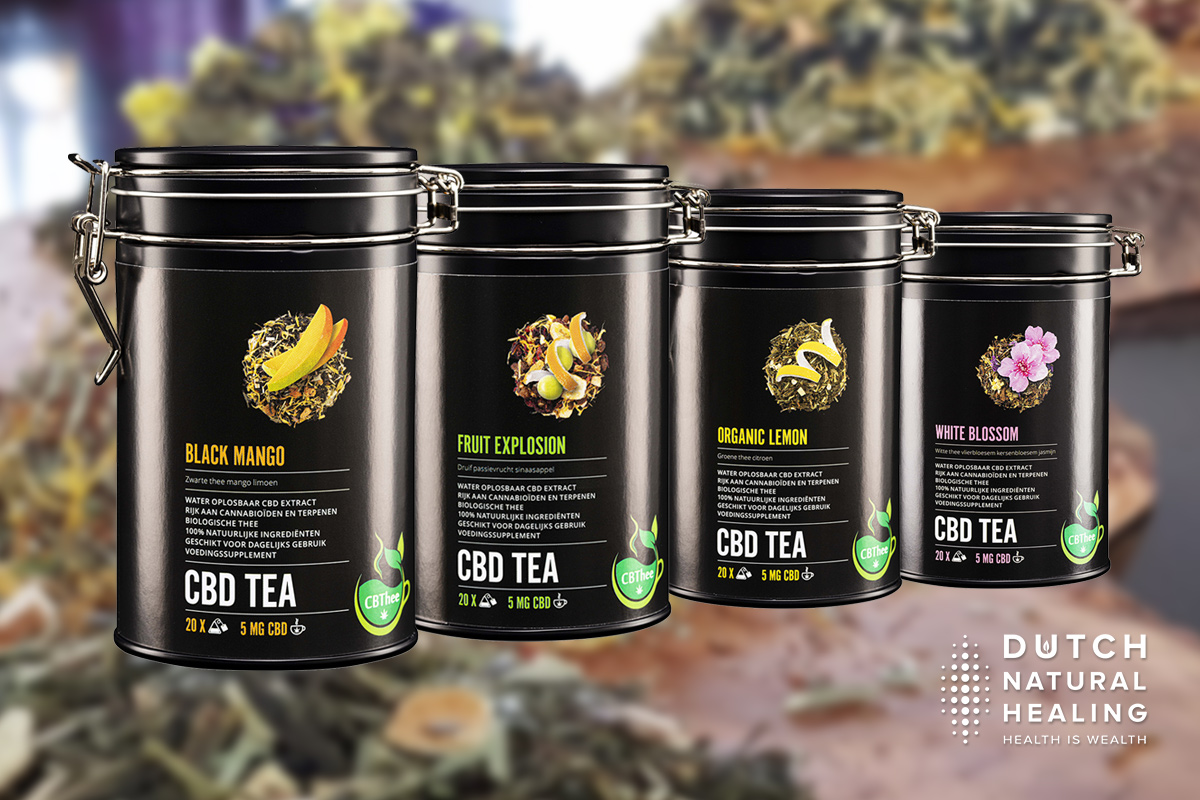 CBD Tea: natural tea blends with water-soluble CBD