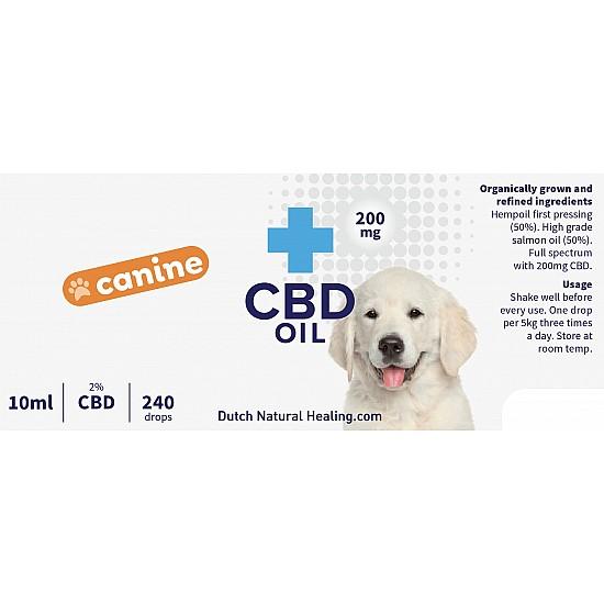 CBD olie voor honden 10ml - 2% (200mg)