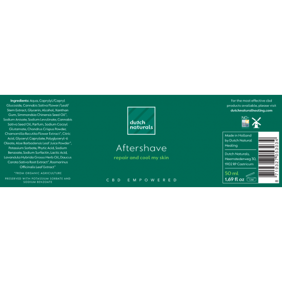 CBD Aftershave Gel 50ml - 125mg