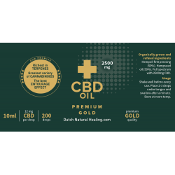 Premium Gold CBD Olie 10ml - 25% (2500mg)