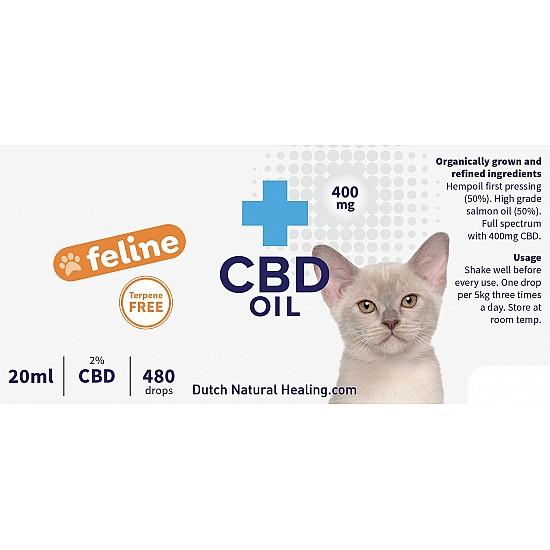 CBD oil for cats 20ml - 2% (400mg)