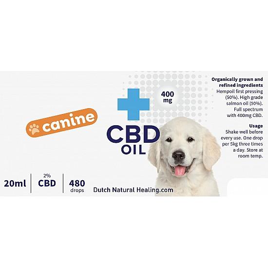 CBD olie voor honden 20ml - 2% (400mg)