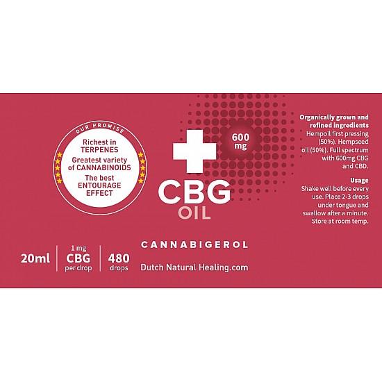 Huile de CBG 20ml - 3% (600mg)