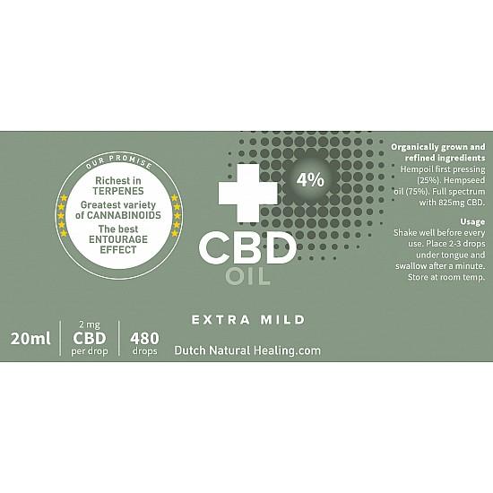 CBD oil 'Extra Mild' 20 ml - 4%