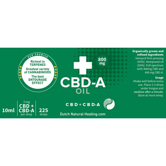 CBD-A oil 10 ml - 8% (800mg)