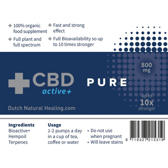CBDactive+ PUR 10 ml - 8% (800mg)