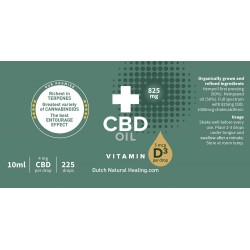 CBD oil + Vitamin D3 10ml - 8% (825mg)
