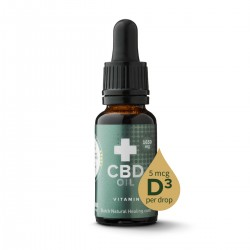 CBD olie + Vitamine D3 20ml - 8% (1650mg)