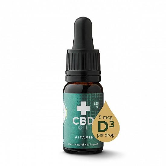 CBD Öl + Vitamin D3 10ml - 8% (825 mg)