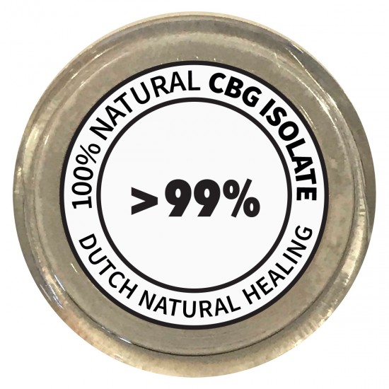CBG Isolaat Kristallen 1gr. - 99,8% Cannabigerol