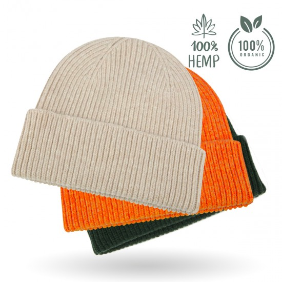 Beanie (Hemp Fiber) - Fashionable Knitted Hat in 8 colors