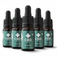 5x CBD olie 10 ml - 8% (4125mg)