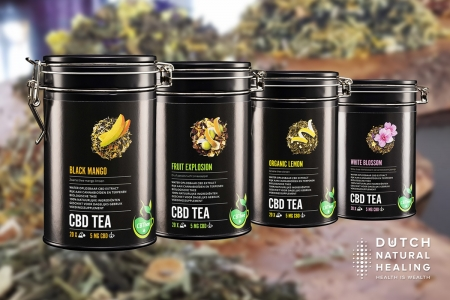 CBD Tea: natural tea blends with water-soluble CBD