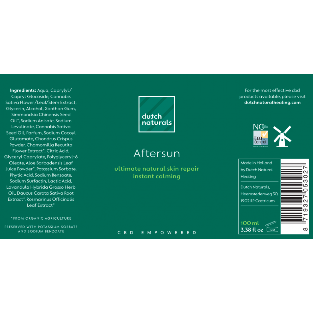 CBD Aftersun Gel 100ml - 250mg