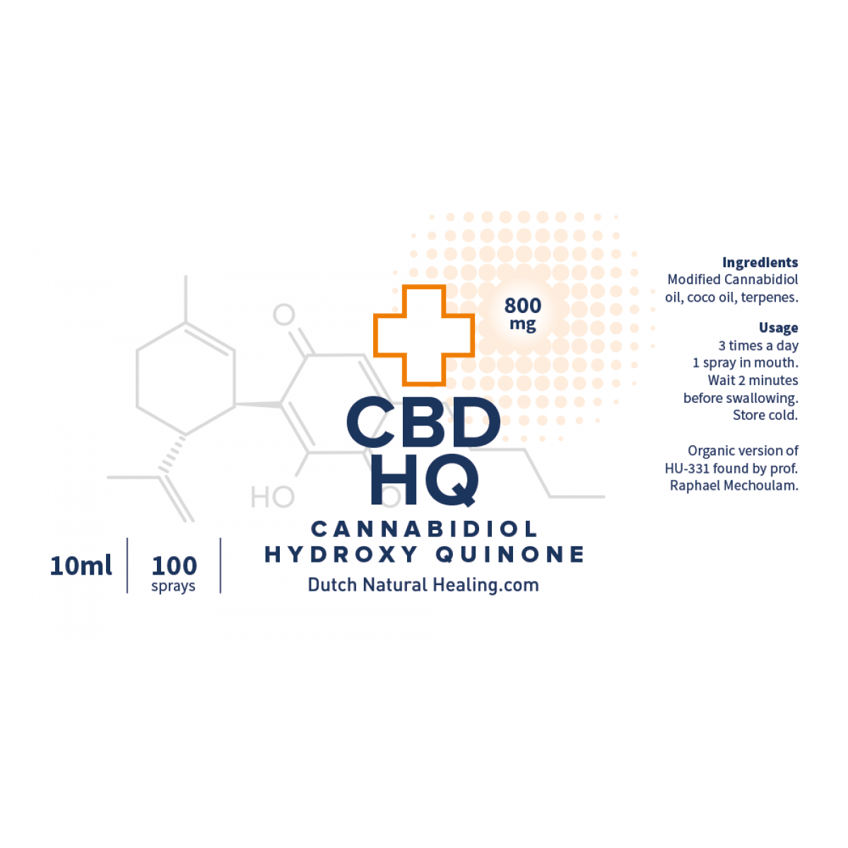 CBD Hydroxy Quinone 10ml - 8% (800mg CBD HQ)