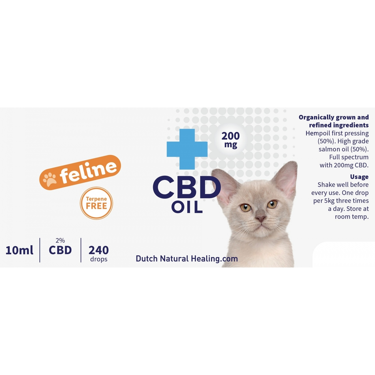 CBD oil for cats 10ml - 2% (200mg)