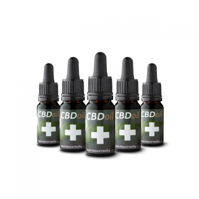 CBD Olie 10 ml x 5