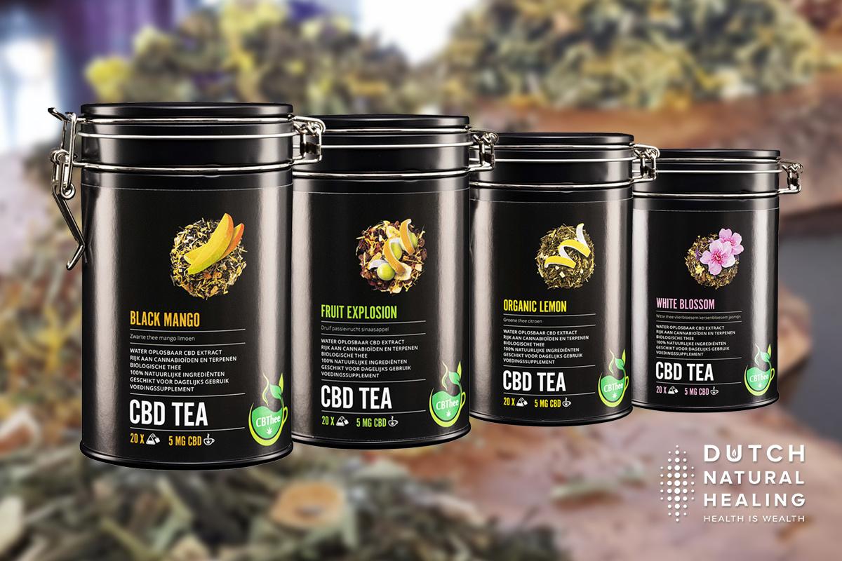 cbd tea tin four flavors natural tea blends with cbd
