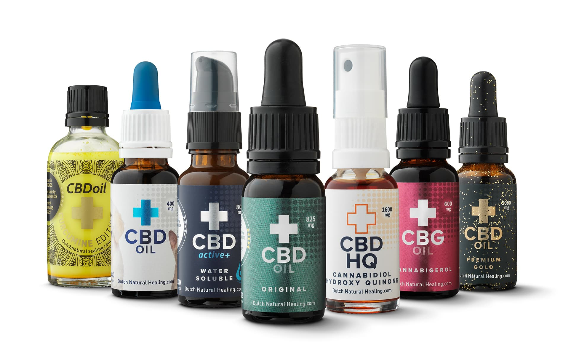 Dutch Natural Healing CBD oil product family